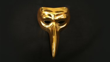 The German DJ-producer's trademark gold mask.
