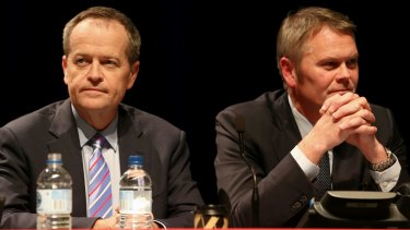 Labor's outgoing national secretary George Wright (right) is credited for helping Opposition Leader Bill Shorten (left) achieve a better-than-expected result in the July 2 election.