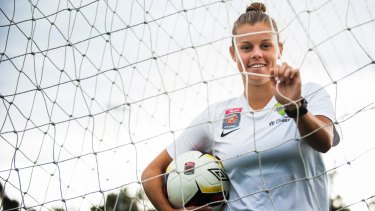 Kahlia Hogg has returned to Canberra United after completing her studies in the US.
