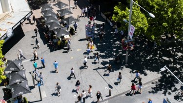 Barr's vision: A digitally altered image showing more activity in Canberra's city centre.