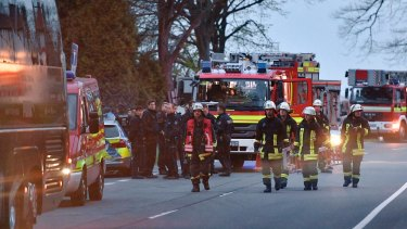 Police officers and firefighters were called to the scene.