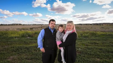 Marcus Ferraro, his wife Emma and 4-year-old daughter Summer are living in Point Cook. There is a Catholic school servicing their estate, but no public school.