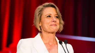 Kristina Keneally at the launch of her campaign for the Sydney seat of Bennelong.