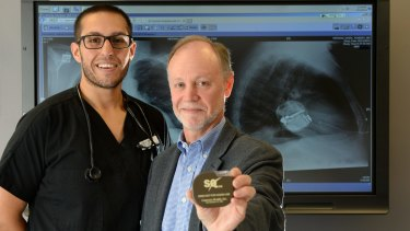 Michael Romero and Dr Jeff Allison show their work.