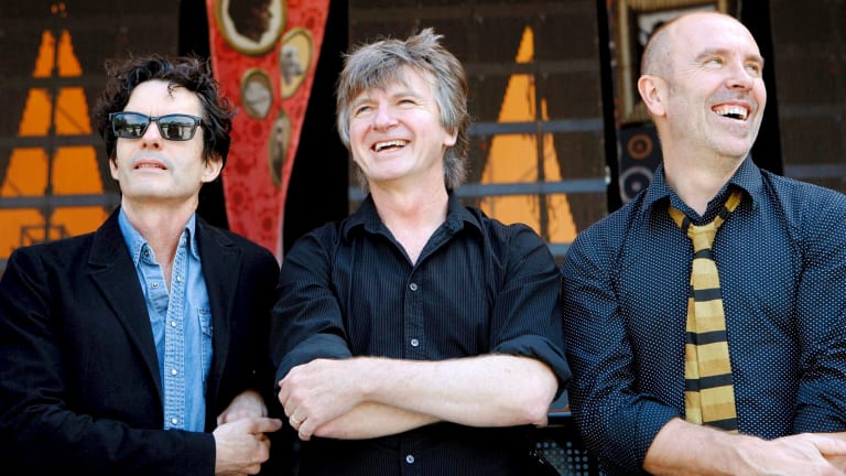 Crowded House: Mark Hart, Neil Finn and Nick Seymour.