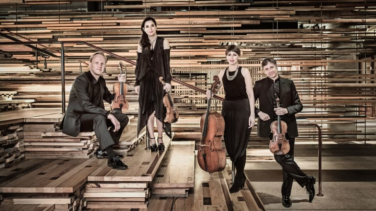 The Australian String Quartet at Hotel Hotel Canberra, from left Dale Barltrop, Francesca Hiew, Sharon Draper and Stephen King.