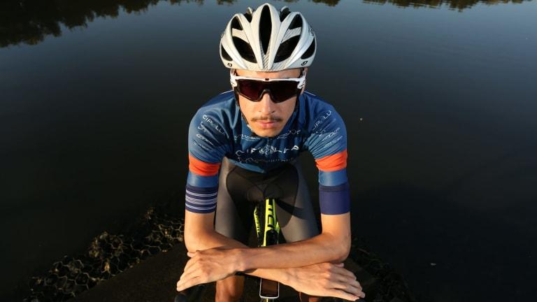 Aidan Kampers from Corrimal bought his helmet online.