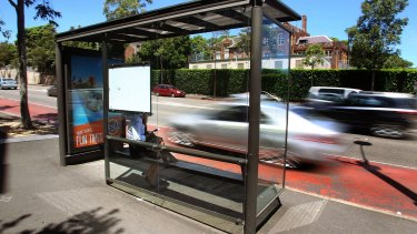 """""""We've got bus stops on major roads like Parramatta Road, which itself is a heat island, and you see shelters with glass backs,"""" says Dr Brent Jacobs."""