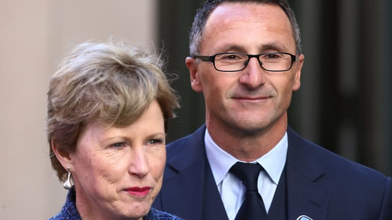 Christine Milne with the new Greens leader Richard Di Natale.