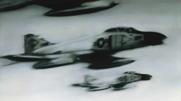 Phantom Interceptors, 1964 (detail) recalls US jets patrolling the skies over West Germany in the 1960s.