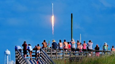Crowds packed the Canaveral National Seashore last week to witness the liftoff.
