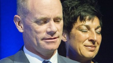 Premier Campbell Newman with wife Lisa.
