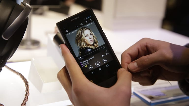 Sony's new Walkman, which runs Android and features high resolution audio playback.