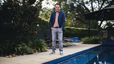 Canberra entrepreneur Matt Bullock at home in Pearce. He has just sold his online transaction company eWAY for $US50 million.