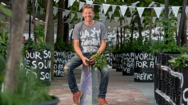 Sustainability guru joost Bakker is working with Eastland shopping centre to turn their organic waste into healthy new soil for growing veggies.