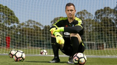Sitting comfortably: Danny Vukovic has endured a hard road back to form for Sydney FC.