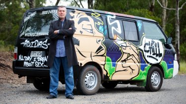 John Webb, the founder and owner of Wicked Campers.