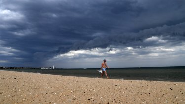 It's best to keep out of the water at Melbourne's beaches.