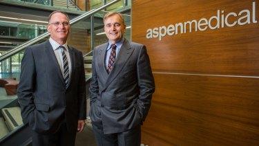 Aspen Medical's Glenn Keys and Dr Andrew Walker in Canberra.