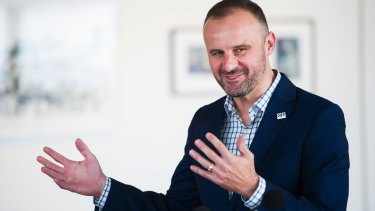 """Chief Minister Andrew Barr: """"We're already working on how to best expand the scheme to capture more organisations."""""""