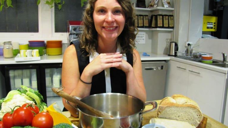 Liz Kaelin in the kitchen.