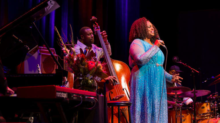 Uplifting: Dianne Reeves performs at the Melbourne Recital Centre.