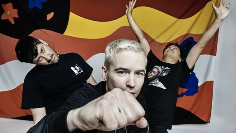 The Avalanches, from left, Tony Di Blasi, Robbie Chater and James Dela Cruz.
