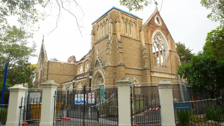 St James Church is being rebuilt at a cost of $20 million.