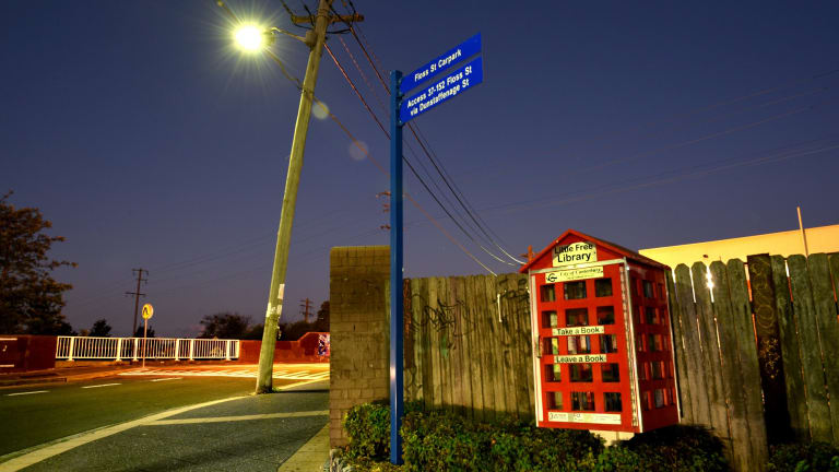 The Phone Booth street library in Hurlstone Park.