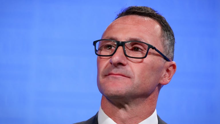 Greens leader Richard Di Natale took full advantage of all the attention this week.