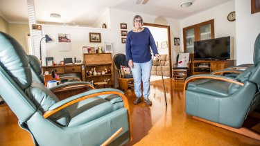 Hip fracture patient Jean McIllhatton in her home in Holt.