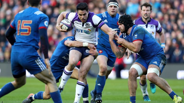 Highland games: Scotland put on a show at home against France.