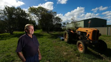 Warren Munro, who has had prostate cancer,  on his Cabbage Tree Road property.