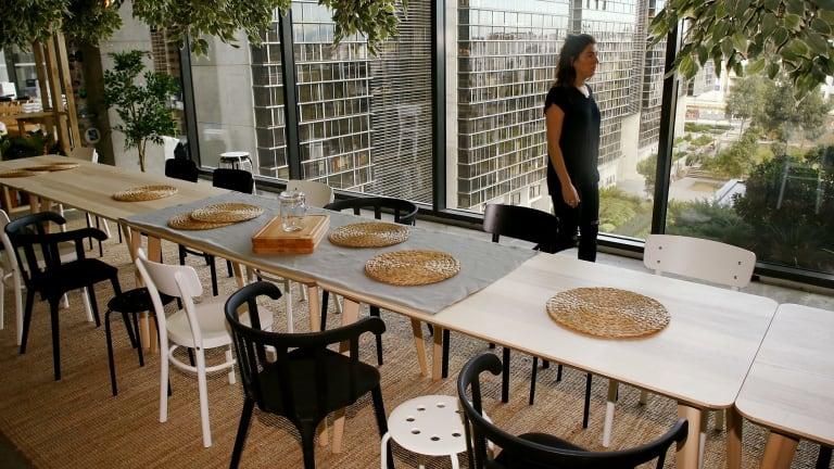 The dining area of the IKEA Sustainability Studio.