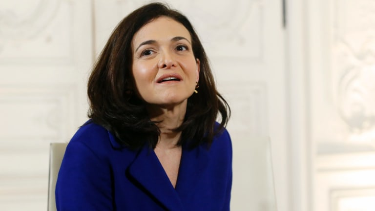 Facebook chief operating officer Sheryl Sandberg.