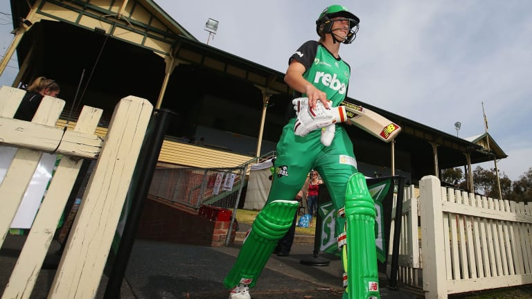 10 out of Ten: Network Ten is rapt with its WBBL ratings, spearheaded by the likes of Melbourne Stars superbat Meg Lanning.