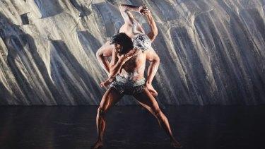 Dancer Luke Currie-Richardson on stage.