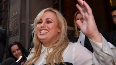 'It's a win for everybody who gets maliciously taken down' - Rebel WIlson outside court.