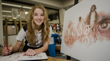 """16-year-old Ineka Voigt won an Australia-wide competition """"Doodle 4 Google""""."""