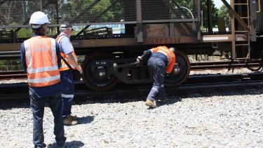 The Indian Pacific has partially derailed in Perth.