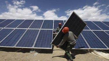 Solar power in China.