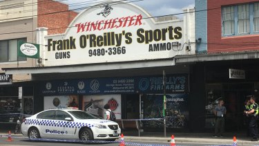 As many as 65 guns were stolen from this Thornbury store on Monday.