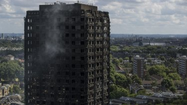 The cladding installed on Grenfell Tower had quickly burst into flame in a fire safety test, police say.