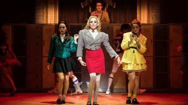 The Heathers, led by  Lucy Maunder (centre) get their bitch on.