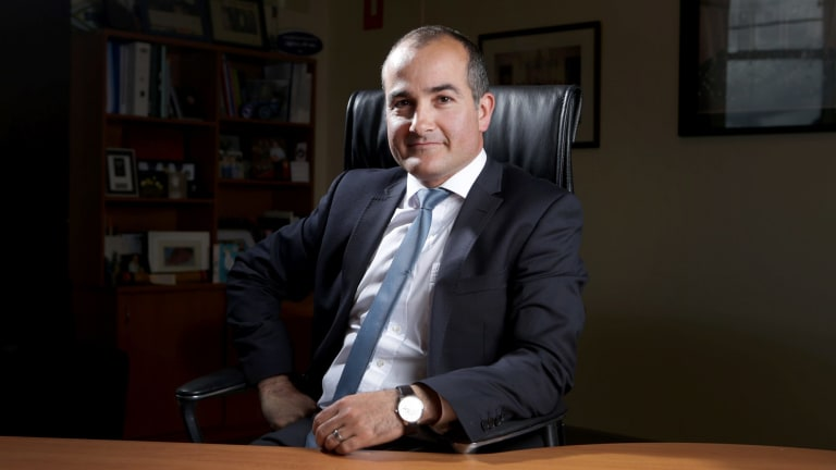 Down to business: Education Minister James Merlino will introduce legislation increasing funding for schools on the day parliament resumes.