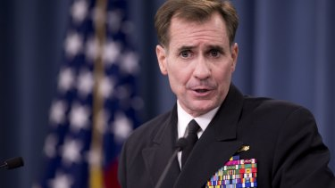 Pentagon Press Secretary Rear Admiral John Kirby.