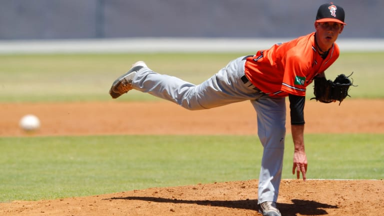 Canberra Cavalry pitcher Jonathan Mottay had a nightmare ABL debut.