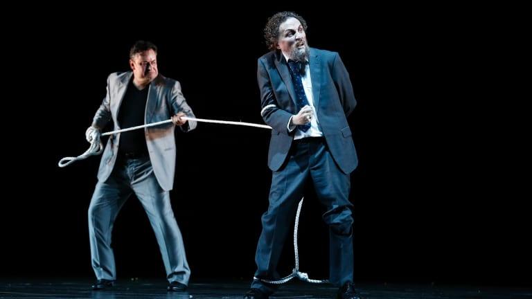 Andreas Conrad (Loge) and Warwick Fyfe (Alberich) deliver admirable performances in <i>Das Rheingold</I>.