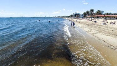 There have been reports of a shark sighting at St Kilda beach.