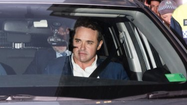 Ben McCormack leaves Redfern police station in April after being charged.